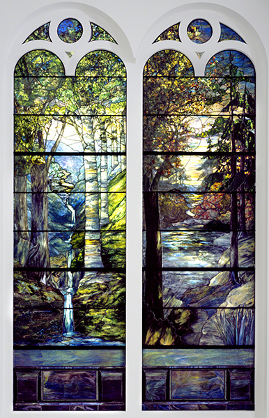 Agnes Northrop, designer (1857–1953, US) and Tiffany Studios (1902–1932, Corona, NY), Dawn in the Woods, Springtime, 1905.