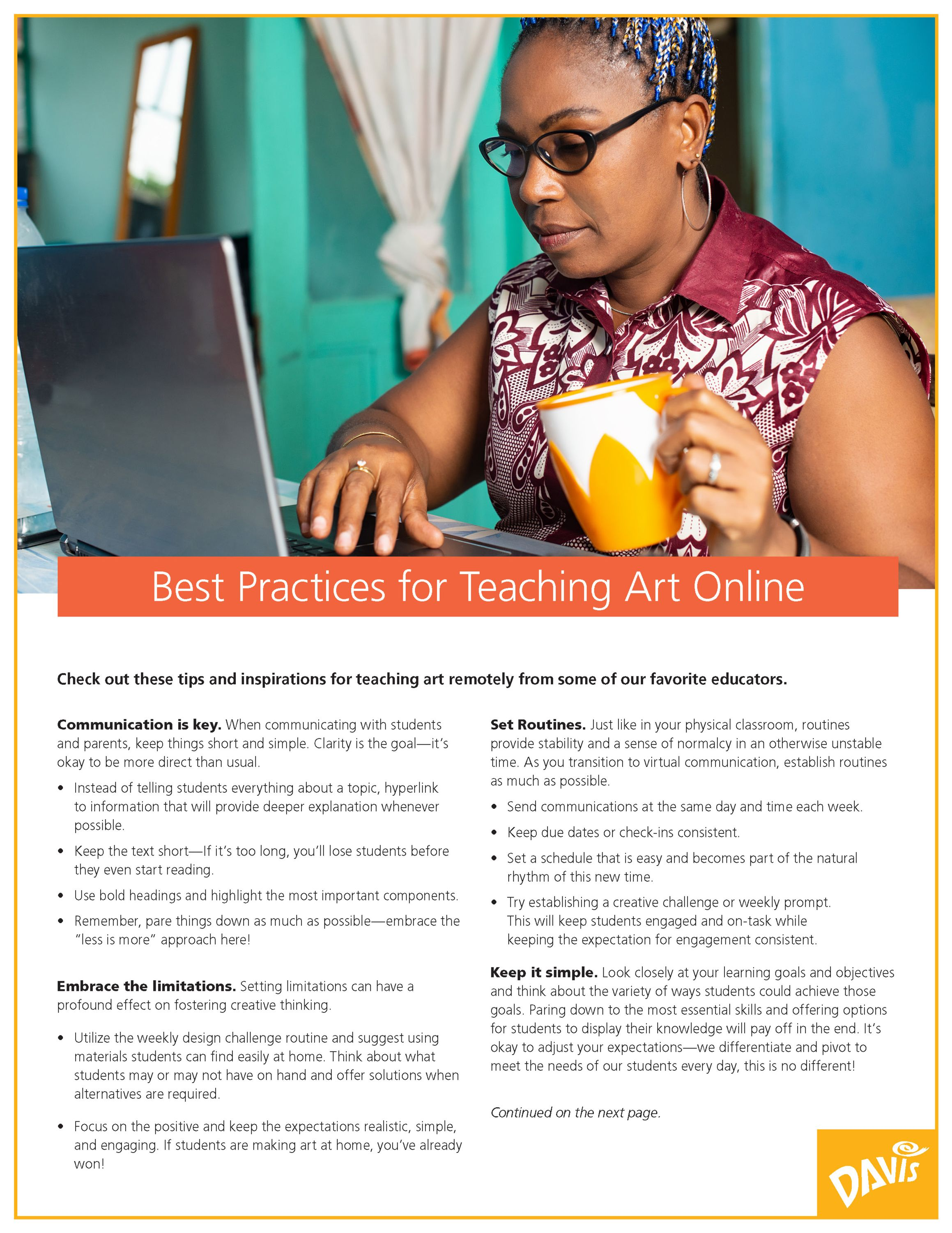 Best Practices for Teaching Art Online