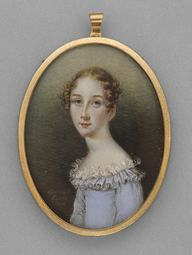 Anna Claypoole Peale (1798–1878), Portrait miniature of an unknown woman, 1818.
