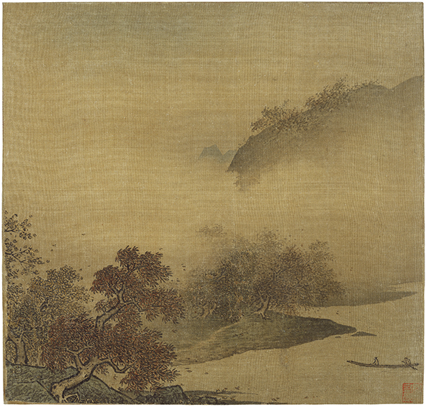 Song Dynasty, formerly attributed to Li Tang (1050–1130, China), Autumn Foliage Along a River, after 1150.