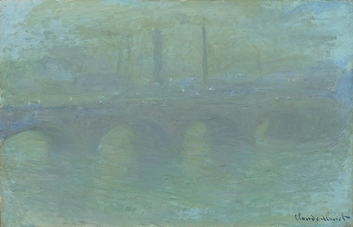 Claude Monet (1840–1926, France), Waterloo Bridge, London, at Dusk, 1904.