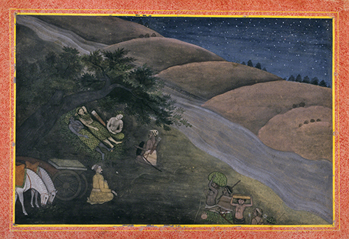 India, The First Night in Exile, from a dispersed series of illustrations for a Ramayana (Journey of Rama), ca. 1775–1780.