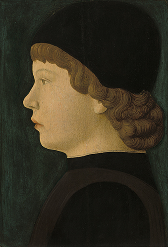 Unknown Artist, Profile Portrait of a Boy, from northern Italy, ca. 1460/1470.