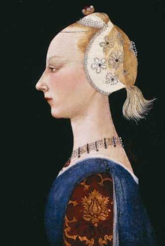 Paolo Uccello, attributed to (1397–1475), A Young Lady of Fashion, 1460s.