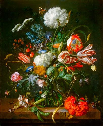 Jan de Heem (1606–1683/1684, Netherlands), Vase of Flowers, ca. 1660.