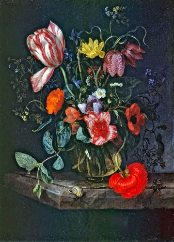 Attributed to Jacob van Walscapelle (1644–1727, Netherlands), Flowers in a Vase.