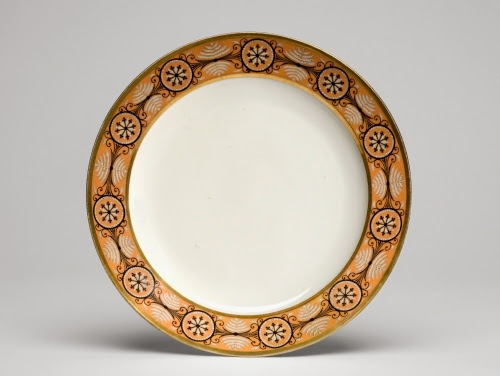 Nast Porcelain Factory (firm Paris, 1783–1835), Dinner plate from a dinner and dessert service, from a service for James Madison, 1806.