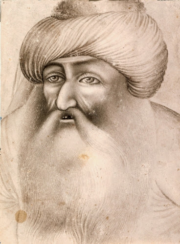 Iran, Portrait of a Man in a Turban, mid-1800s.