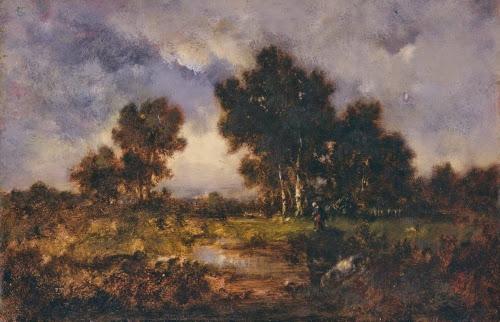 Narcisse-Virgile Diaz de la Peña (1807–1876, France), Trees and Pool, ca. 1840–1850.