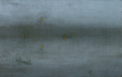 James A.M. Whistler (1834–1903 US), Nocturne, Blue and Silver, ca. 1872–1878.