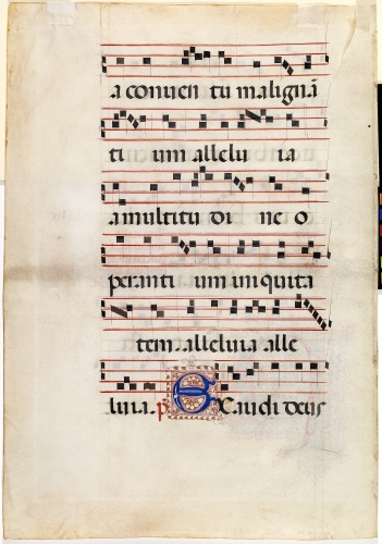 Italy, Leaf from an antiphonary, 1485.