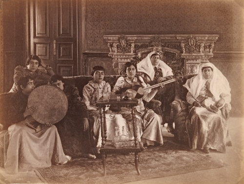 Attributed to Antoin Sevruguin (1830s–1933, Iranian, born Armenia), Group of Women Musicians, 1890s(?).
