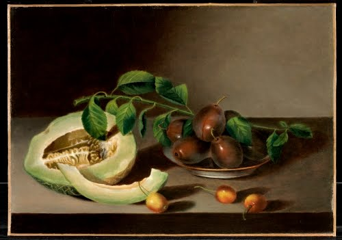 Margaretta Angelica Peale (1795–1882), Melon, Cherries and Plums, 1836.