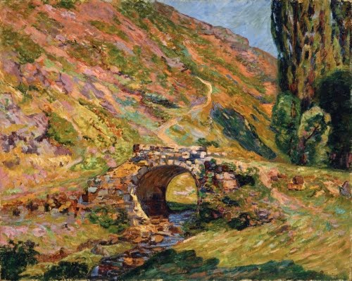 Jean-Baptiste Armand Guillaumin (1841–1927, France), Bridge in the Mountains, 1898.