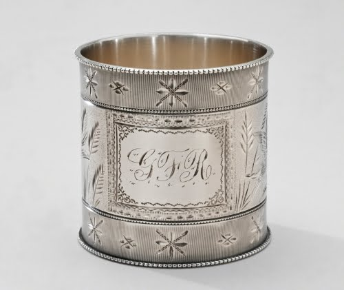 George W. Shiebler & Company (1876–1910, New York and Brooklyn), Napkin ring, 1876–1890.