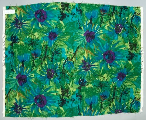 Althea McNish (born 1930s, Trinidad) for Heal's (1810 to present, London), Caribe textile, 1962.