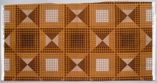 Evelyn Redgrave (born ca. 1944, Britain) for Heal's (1810 to present, Britain), Stipple textile, 1969.