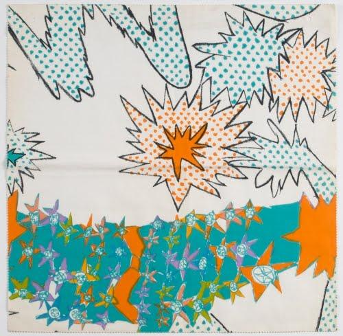 Zandra Rhodes (born 1940, Britain), Textile, ca. 1965.