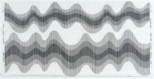 Arno Thoner (born 1940s, Netherlands) for Heal's (1810 to present, London), Undulation textile, 1966 (?).