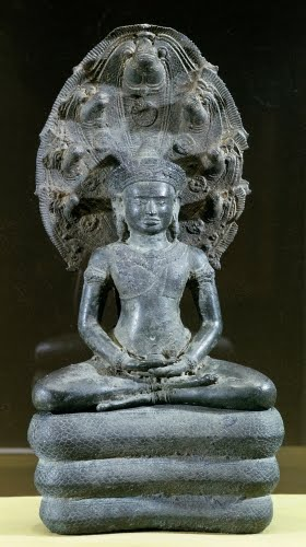 Cambodia, Naga-Enthroned Buddha, 1100s.