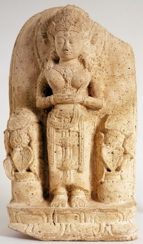 Srivijaya Kingdom (flourished 600s to 1200s CE, Java), Woman Holding a Lotus.