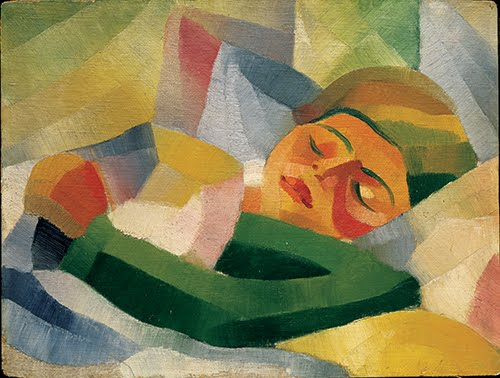 Yun Gee, Sleeping Girl, 1926–1927.