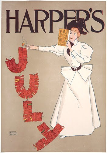 Edward Penfield (1866–1925, US), Harper's July, poster for Harper's New Monthly Magazine, July 1894.