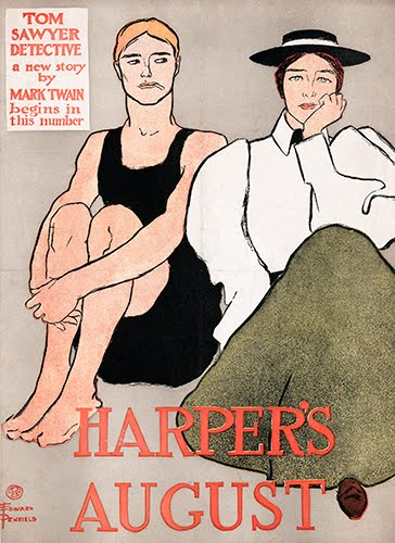 Edward Penfield (1866–1925, US), Harper's August, poster for Harper's New Monthly Magazine, August, 1896.