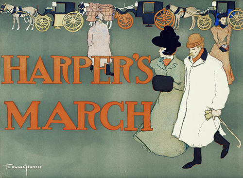 Edward Penfield, Poster for Harper's March, March, 1897.