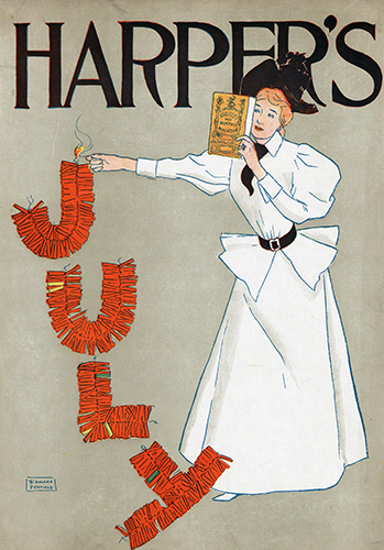 Edward Penfield (1866–1925, US), Poster advertising Harper's New Monthly Magazine, July, 1894.