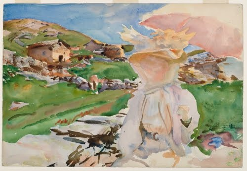 John Singer Sargent, In the Simplon Pass, 1909.