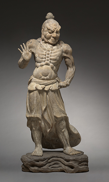 Kamakura Period, Japan, Ungyo, Temple Guardian (Nio), from Shiga Province, 1200s.