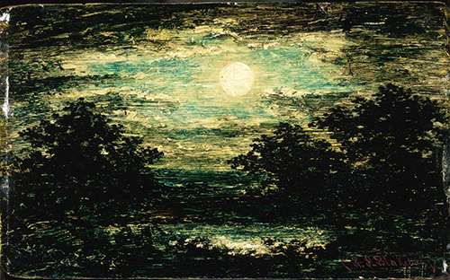 Ralph Albert Blakelock (1847-1919 US) Moonlight.