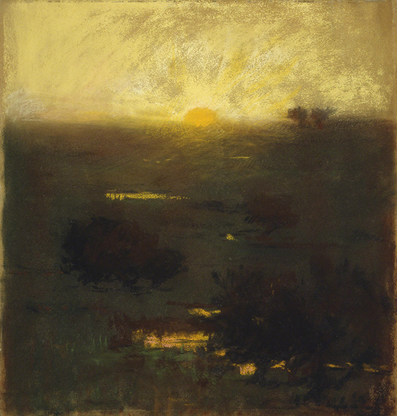 Sarah Wyman Whitman (1842–1904, US), Sunset, ca. 1880.