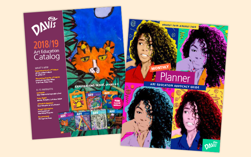 art education curriculum catalog and art advocacy monthly planner