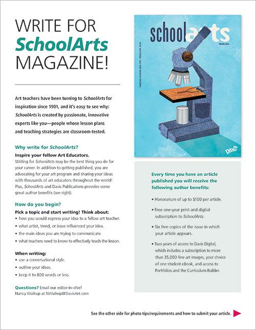 Write for SchoolArts | Davis Publications