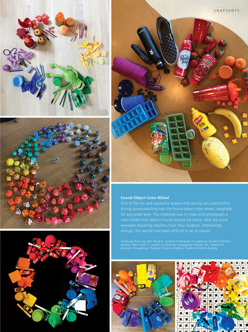 All Levels: Found-Object Color Wheel