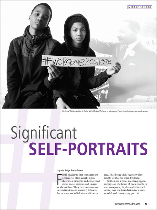 Middle School: Significant Self-Portraits